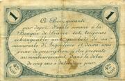 1 franc - Chambre de commerce d'Angoulème [16] <4ème série> – revers