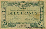 2 francs - Chambre de Commerce d'Angoulême [16] <4ème série> – avers