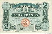 2 francs - Chambre de Commerce d'Angoulême [16] <5ème série> – avers