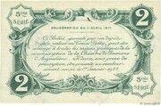 2 francs - Chambre de Commerce d'Angoulême [16] <5ème série> – revers