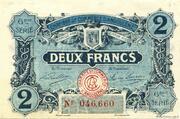 2 francs - Chambre de Commerce d'Angoulême [16] <6ème série> – avers