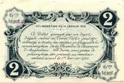 2 francs - Chambre de Commerce d'Angoulême [16] <6ème série> – revers