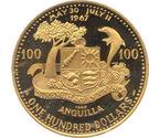 100 dollars - Elizabeth II (Démonstration de la population) – revers