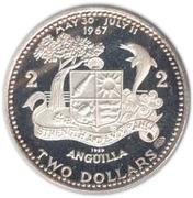 2 dollars - Elizabeth II (drapeau national) – revers