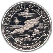 1 dollar - Elizabeth II (Carte d'Anguilla) – avers