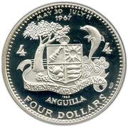 4 dollars - Elizabeth II (bateau étoile de l'atlantique) – revers