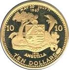 10 Dollars - Elizabeth II (la vie sous marine des Caraibes) – revers