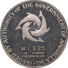 25 Dollars - Elizabeth II (Indépendance) – avers