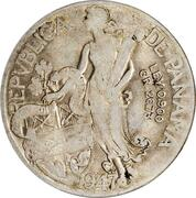 1 Dollar (Provisional Government counterstamped Coinage) -  revers