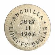 1 Dollar (Gouvernement provisoire ; contremarquée) -  avers
