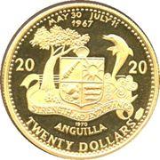 20 Dollars - Elizabeth II (Sirènes) – revers
