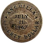 1 Dollar (Gouvernement provisoire ; contremarquée) – avers