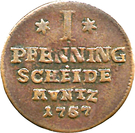 1 Pfennig - Viktor II Friedrich – revers