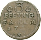3 Pfennig - Viktor II Friedrich – revers