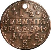 1½ pfennig Friedrich Albrecht – revers