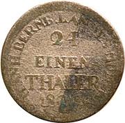 1/24 thaler Alexius Friedrich Christian (1796 - 1834) – revers