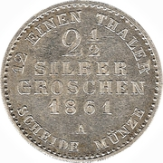 2½ Silbergroschen - Alexander Carl -  avers