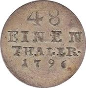 1/48 Thaler - Friedrich Albrecht – revers