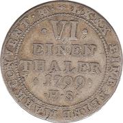 ⅙ Thaler - Alexius Friedrich Christian – revers