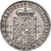 ⅔ Thaler - Viktor II Friedrich – avers
