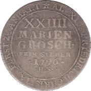 24 Mariengroschen - Alexius Friedrich Christian – revers