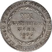 ½ Thaler - Alexius Friedrich Christian – revers