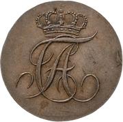 1 pfennig Alexius Friedrich Christian – avers