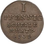 1 pfennig Alexius Friedrich Christian – revers
