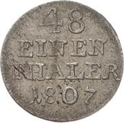 1/48 thaler Alexius Friedrich Christian – revers