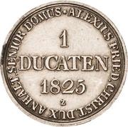 1 ducat Alexius Friedrich Christian (Ausbeute Harzgold-Dukat, essai en argent) – revers