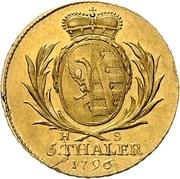 5 Thaler - Alexius Friedrich Christian – revers