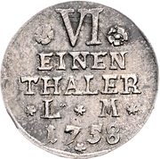 ⅙ Thaler - Victor Friedrich – revers