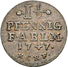 1½ pfennig Viktor Friedrich – revers
