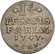1½ pfennig Viktor Friedrich -  revers