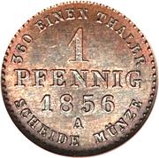 1 Pfennig - Alexander Carl -  avers