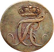 1 Pfennig - Alexius Friedrich Christian – avers