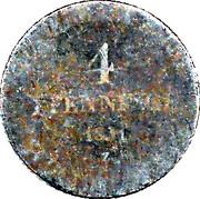4 pfennige Alexius Friedrich Christian – revers