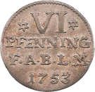 6 Pfennig - Viktor II Friedrich – revers