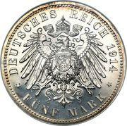 5 mark Friedrich II – revers