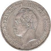 ⅙ taler Leopold Friedrich – avers