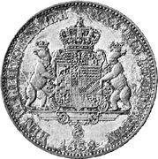 1 vereinstaler Leopold Friedrich – revers