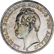 1 vereinstaler Leopold Friedrich – avers