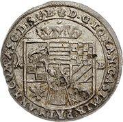 1 Groschen - Johann Casimir (Décès) – avers