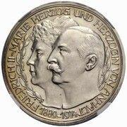 5 mark Friedrich II (noces d'argent - Essai) – avers