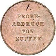 1 thaler Leopold Friedrich (Réunification; Frappe essai en cuivre) – avers