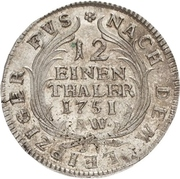1/12 Thaler - August Ludwig – revers