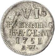 6 pfennig August Ludwig – revers