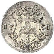 3 pfennig August Ludwig – revers
