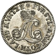 1/24 thaler August Ludwig – avers