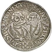 1 Ausbeutethaler - Wolfgang, Johann IV., Georg III. and Joachim I. (Harzgerode) – revers